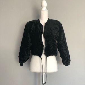 Vintage 90's crushed velvet  jacket